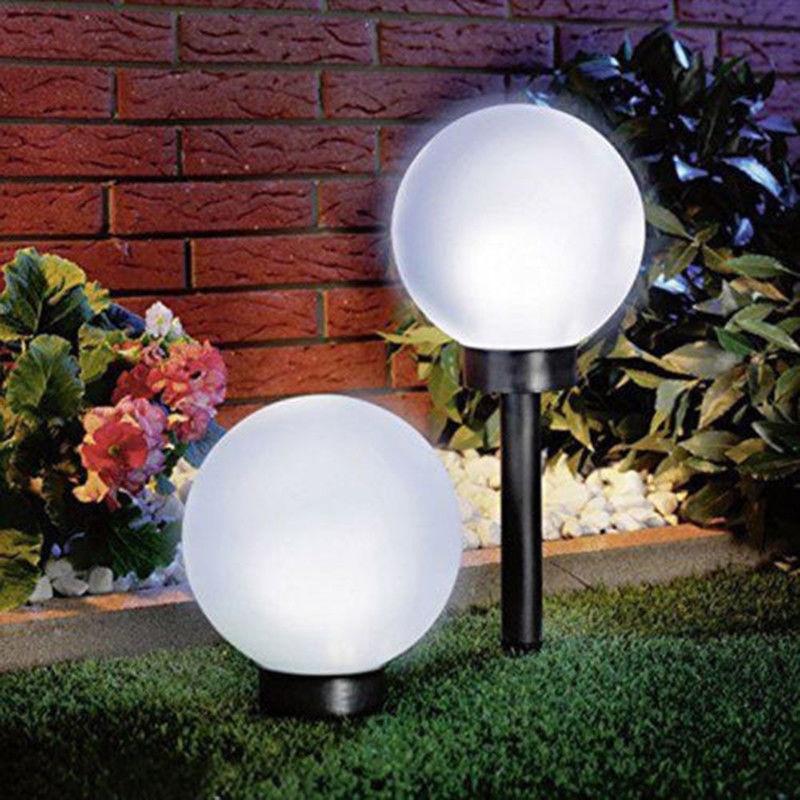 LED lámparas de césped Solar bombilla impermeable jardín bola Sensor de luz paisaje calle patio parque de césped vacaciones fiesta decoración luces