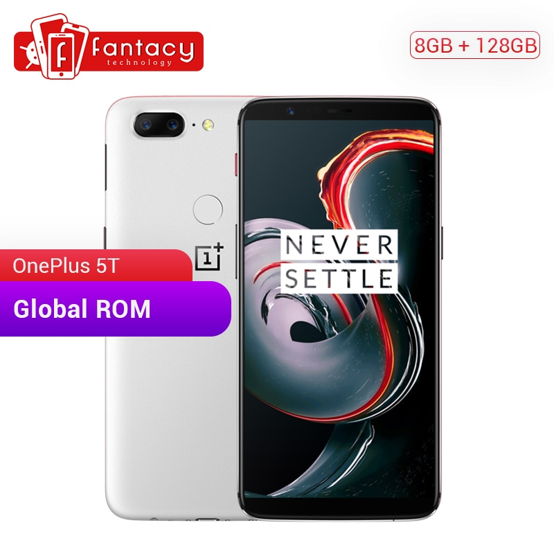 "OnePlus 5 T 8GB 128GB ROM 189 Pantalla Completa Snapdragon 835 Smartphone 6,01 ""AMOLED 4G LTE 20MP IMX398 NFC carga rápida OnePlus 5 T"
