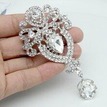 LNRRABC femmes broches strass cristal couronne grande fleur broche de mariée broche de mariage de mode bijoux décoration broches