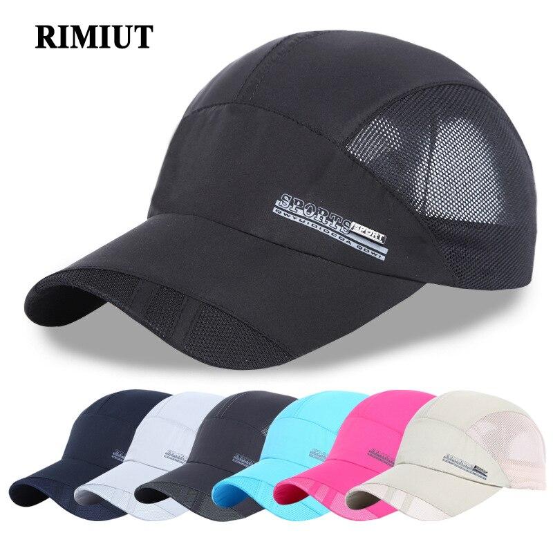 RIMIUT Hot Mens Baseball Cap and Hats for Men Summer Trucker Cap Women Pink Blue Hip Hop Snapback for Adult Unisex Branded Caps