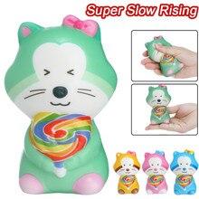 Jouets avec chat à augmentation lente, animaux, jouet à levée lente, parfumé, jouets de soulagement du Stress, anti-Stress,