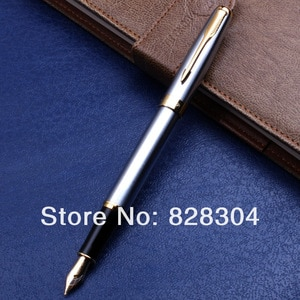 Paul 388 silver and gold clip Office fountain pen Office writing gift pen free shipping
