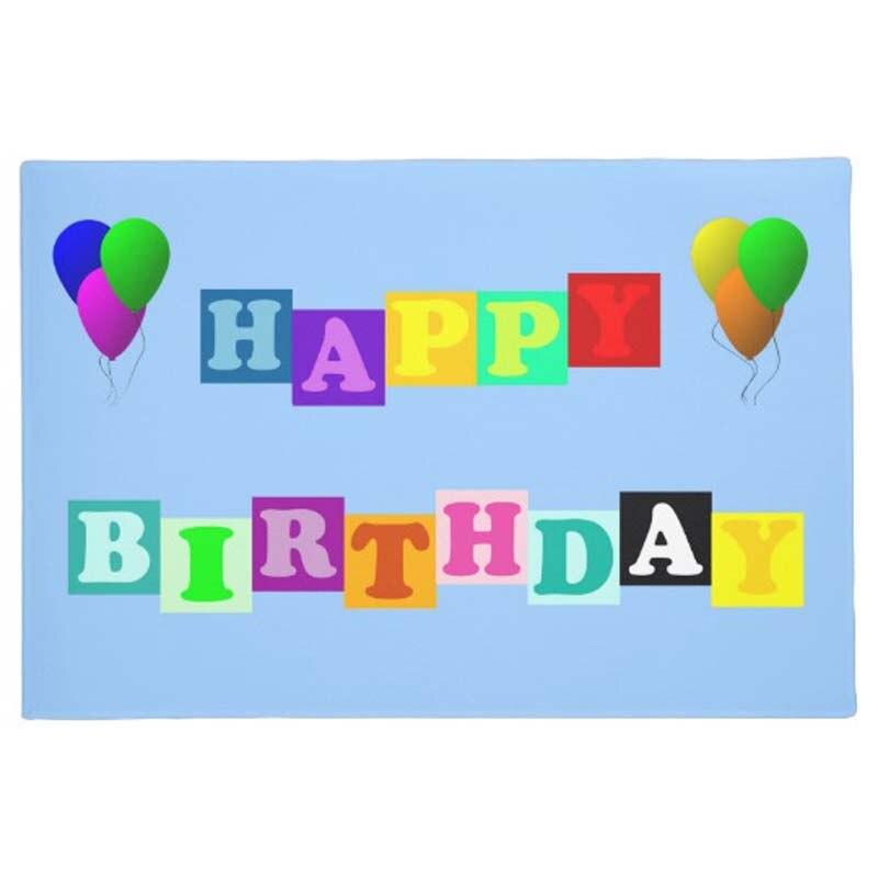 Personalidad Feliz cumpleaños globos felpudo casa decoración entrada no de salida de escape estera de goma alfombra lavable para suelo