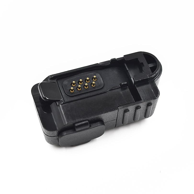 Adaptador de áudio conversor do conector do fone de ouvido para motorola xir p6600 p6628 xpr3300 xpr3500 dep550 dep570 rádio portátil