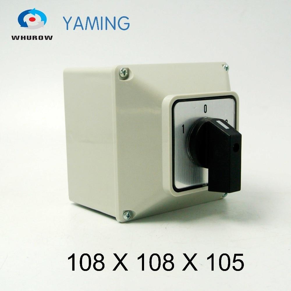 Yaming-interruptor giratorio de cambio eléctrico, YMW26-32/1M, 32A, 1 polo, 3 posiciones con...