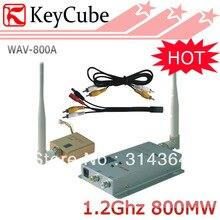 5 unids/lote 800mW inalámbrico AV Transmisor Audio Video transmisor y receptor Kit 8 canales Envío Expreso Gratuito