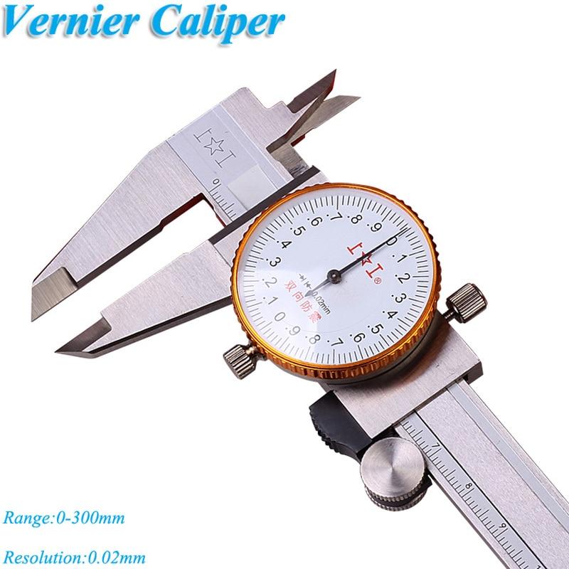 Calibrador de Dial 0-130mm de acero inoxidable a prueba de golpes calibrador Vernier 0,01mm calibrador métrico herramienta de medición 171-126A