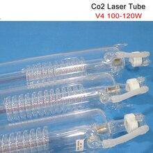 좋은 co2 레이저 튜브 v4 100 w 120 w co2 레이저 튜브 1450mm 길이 80mm 직경 무료 와이어 연결 나무 케이스에 포장