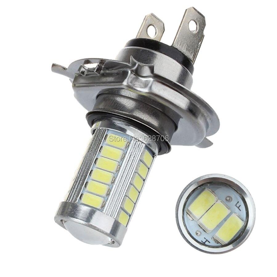 2 pçs h4 33 smd 5630 5730 carro led luzes de sinal nevoeiro lâmpadas diurnas 33smd auto traseiro reversa lâmpadas branco