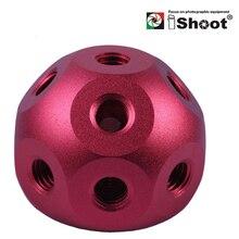 "iShoot Versatile Metal Magic Ball+2x 1/4-3/8""Adapter Screw for Camera Holder Umbrella Bracket Flash Mount Light Stand Tripod"