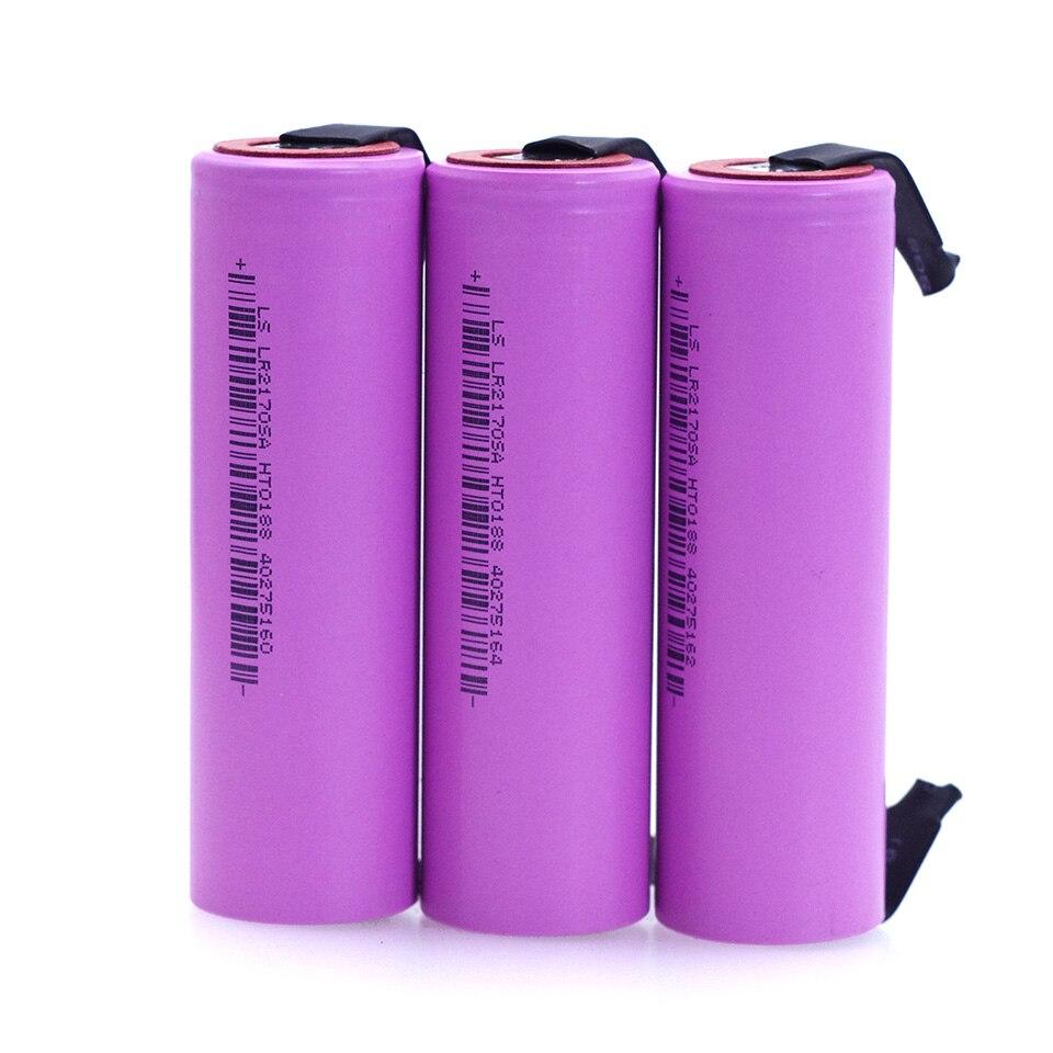 Liitokala 21700 li-lon battery 4000mAh 3.7V 15A power discharge speed 10C ternary car Electric lithium battery+DIY Nickel Sheets