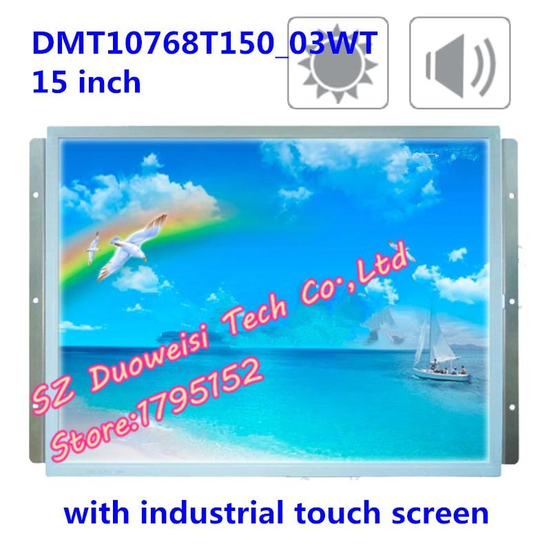 DMT10768T150_03WT 15-polegada tela DGUS serial industrial touch screen XGA LCD kits completos. Mesmo como a foto.