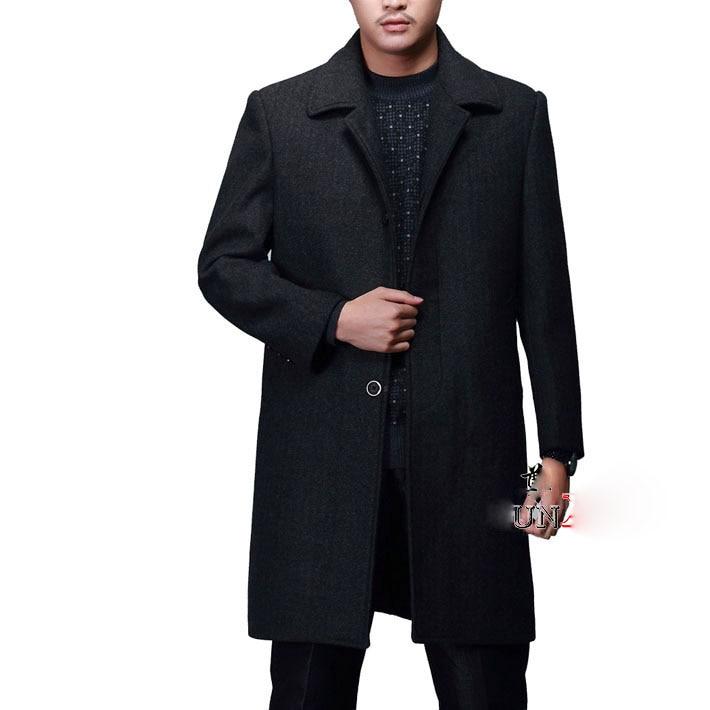Gabardina larga de alta calidad personalizada de nivel superior de estilo de EE. UU. De un solo pecho para hombre, gabardina europea, gabardina, chaqueta, gabardina para hombre