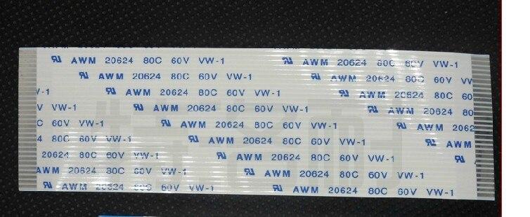 Envío Gratis pedido personalizado cable plano flexible FFC 5-50 pin 5-500mm paso largo 0,5mm-1mm