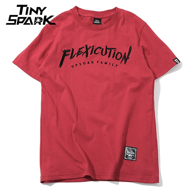 2020 hombres camiseta Hip Hop Flexicution lógica rapero Hiphop camisetas bordado Harajuku camiseta algodón Tops camisetas Streetwear verano