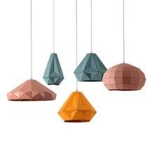 Loft Stil Industrielle Wind Farbe Eisen Droplight Moderne LED Anhänger Leuchten Esszimmer Hängen Lampe Innen Beleuchtung