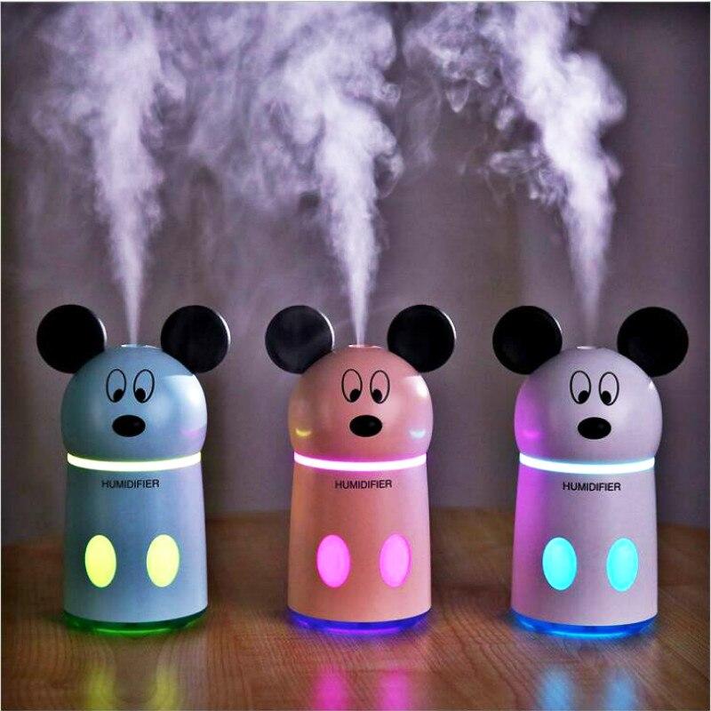 Venta al por mayor Mikey Meng QI USB humidificador de aire ultrasónico difusor de aromaterapia con luz colorida de La Noche de la Oficina para el hogar coche 200ML