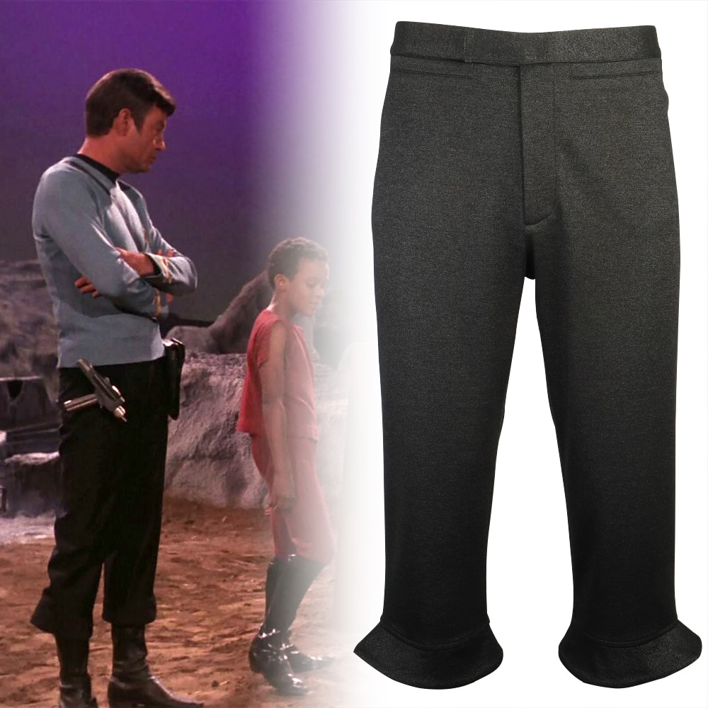 Star Csotume la serie Original Trek uniforme de la flota estelar pantalones TOS hombres Kirk Spock pantalones Halloween fiesta Prop