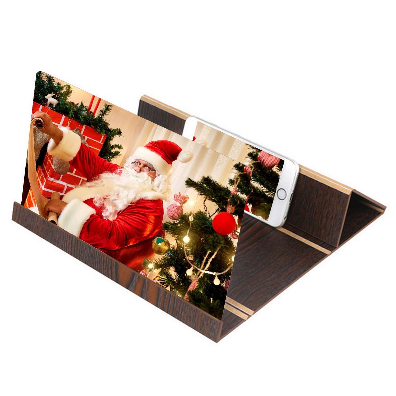 Besegad 12 pulgadas plegable 3D pantalla del teléfono móvil estereoscópica proyección amplificador soporte de escritorio soporte de teléfono