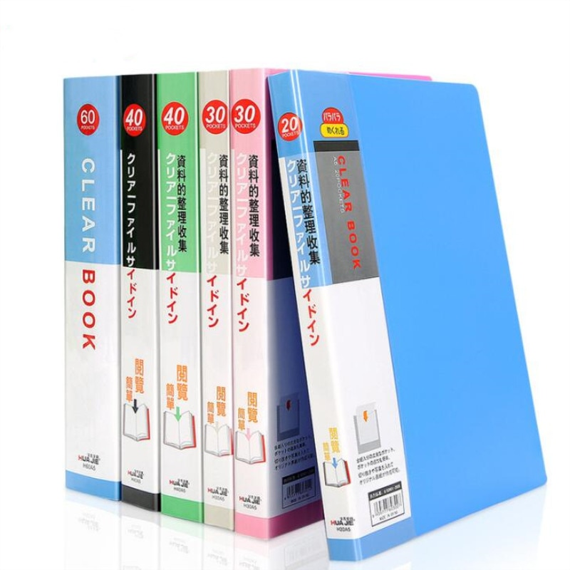 NEW 40 pages A5 Plastic File Booklet Insert Folder School Business Office Supplies Folder Plastic Storage Documents