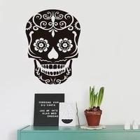 Autocollant mural squelette fleurs  Simple  a la mode  decoration pour la maison  salon  chambre a coucher  sparadrap muraux  JG2775