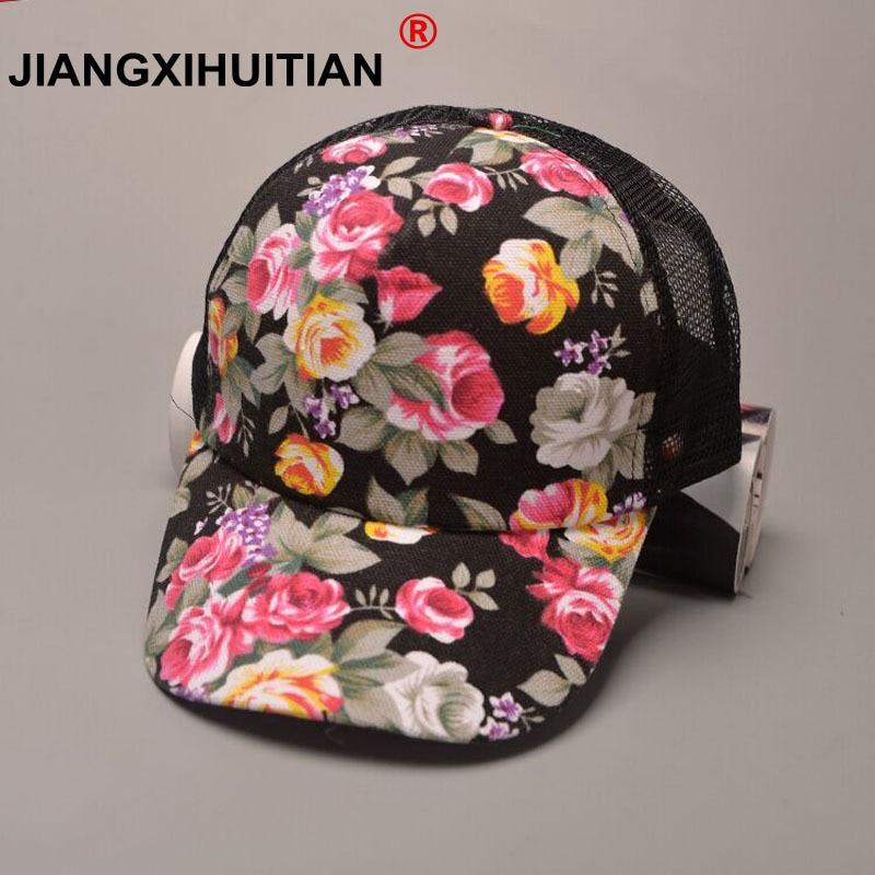 Casquette de camionneur en dentelle noir   Nouvelle collection été 2017, casquette de femme, casquette de camionneur, Snapback a Rose fleur, chapeau en maille