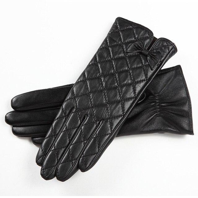 2019 plaid fashion elegant men's thermal suede short design gloves thermal genuine leather fingers gloves