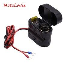 MotoLovee 오토바이 담배 라이터 충전기 방수 4 1 전자 시계 유형 충전 듀얼 포트 USB 충전기