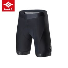 Santic New Men Cycling Padded Shorts Pro Fit Italian Imported Riding Pad MTB Road Bike Short Pants F