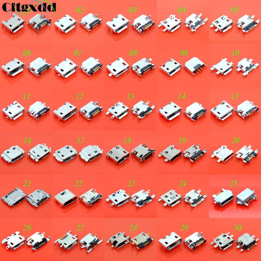 Cltgxdd 30 моделей 30 шт 5pin 7pin микро USB разъем, USB разъем для зарядки, USB разъем V8 порт для Samsung Huawei Lenovo телефон планшет