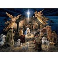 5d diy diamond painting cross stitch birth of jesus christ full square diamond mosaic home decorative full diamond embroidery