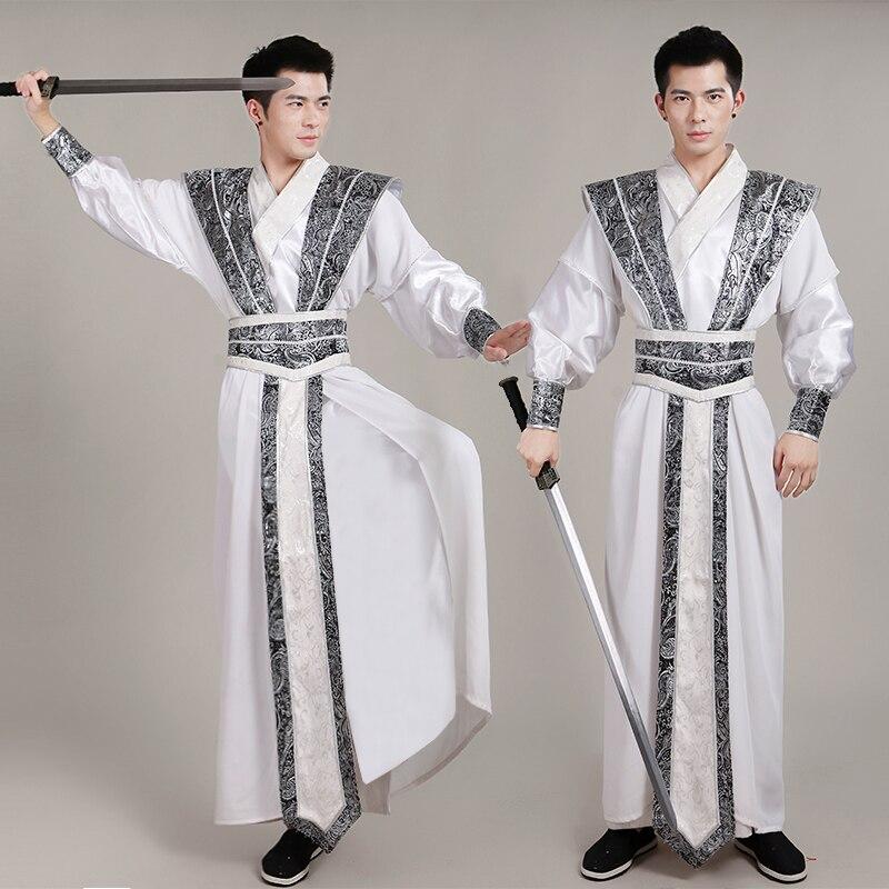 جديد الصينية الوطنية Hanfu زي للرجال سلالة تانغ دعوى Hanfu تأثيري القديمة زي التصوير مرحلة الملابس
