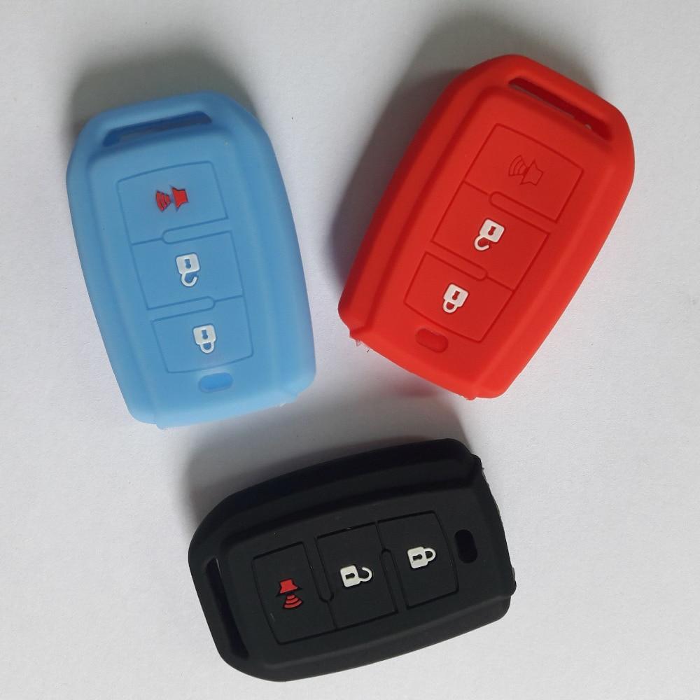 Резиновый силиконовый чехол-накладка для TOYOTA AVANZA RUSH AGYA Smart 3 кнопки FOB KEY