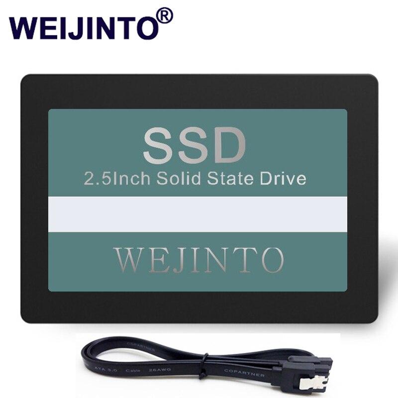 WEIJINTO 2,5 SATA SATA2 SATA3 SSD 32 Гб 60 ГБ 120 ГБ 240 ГБ Внутренний твердотельный жесткий диск 128 Гб SSD для настольного ноутбука