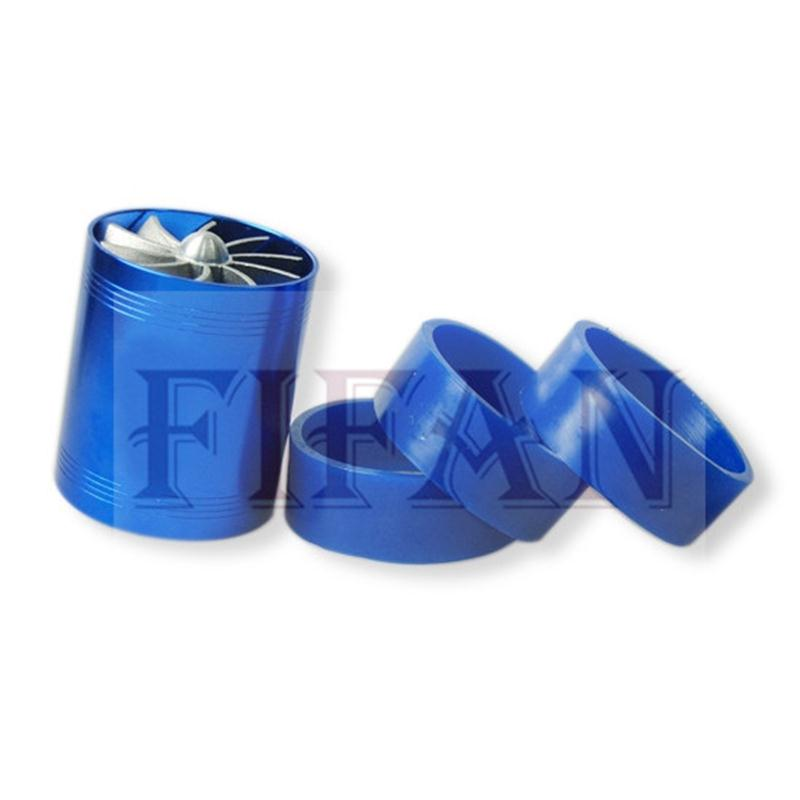 FIFAN Doppel Turbine Turbo Charger Air Intake Gas Fuel Saver Fan Auto Kompressor