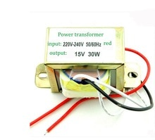 30w double 15 v power supply transformer: input: 220 v / 50 hz output: double 15 v