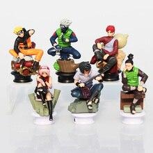 6 adet/takım Naruto Uzumaki Naruto Uchiha Sasuke Kakashi Sakura Gaara aksiyon figürleri oyuncaklar PVC bebekler 7 ~ 10cm büyük hediye