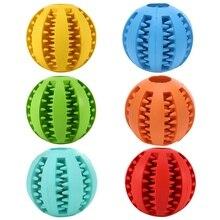 Zabawki dla psa wyjątkowo wytrzymała gumowa piłka zabawka zabawna interaktywna piłka elastyczna zabawki dla psa dla psi ząb kulka do czyszczenia żywności AB