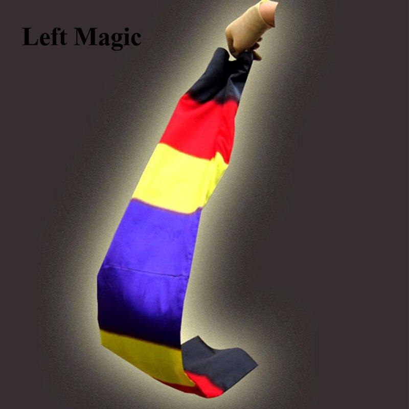 Шарф с изменением цвета, волшебные фокусы из черного на радужную шелковую стрейч, волшебные фокусы, реквизит для магии, забавная сценическа...