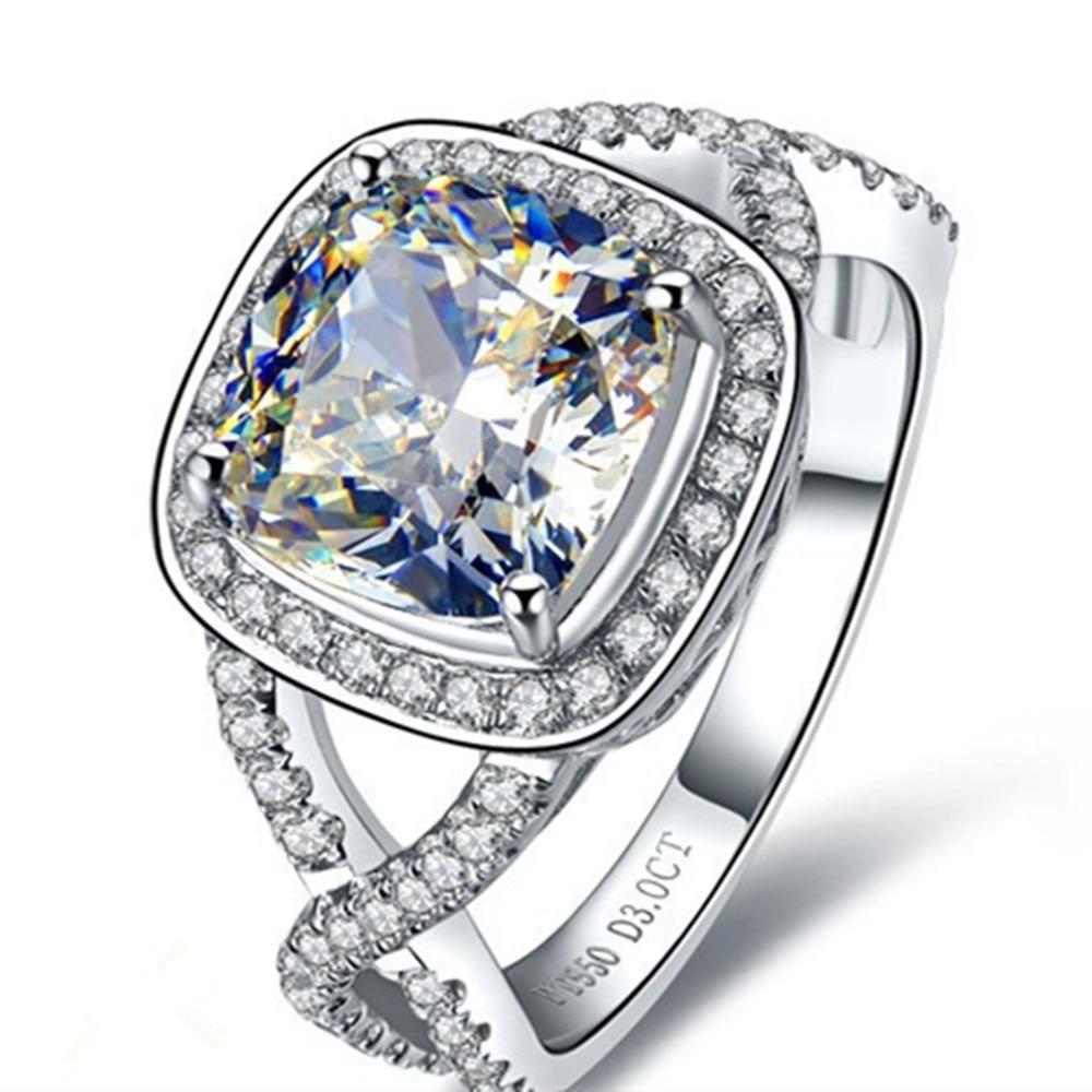 3 قيراط الذهب الصلبة 18 كيلو رائعة محاكاة خاتم الماس النساء الذكرى شحن الذهب صيانة كل حلقة الحياة