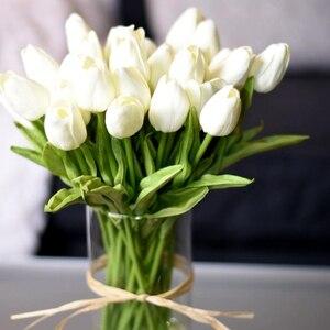 10PCS Tulip Artificial Flower Real Touch Artificial Bouquet Fake Flower for Wedding Decoration Flowers Home Garen Decor