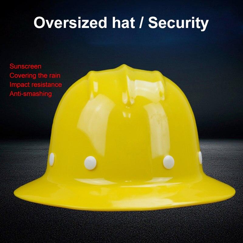 Casco de seguridad parasol impermeable Wide-brimmed Sombrero duro trabajo construcción protección casco servicio de impresión de logotipo