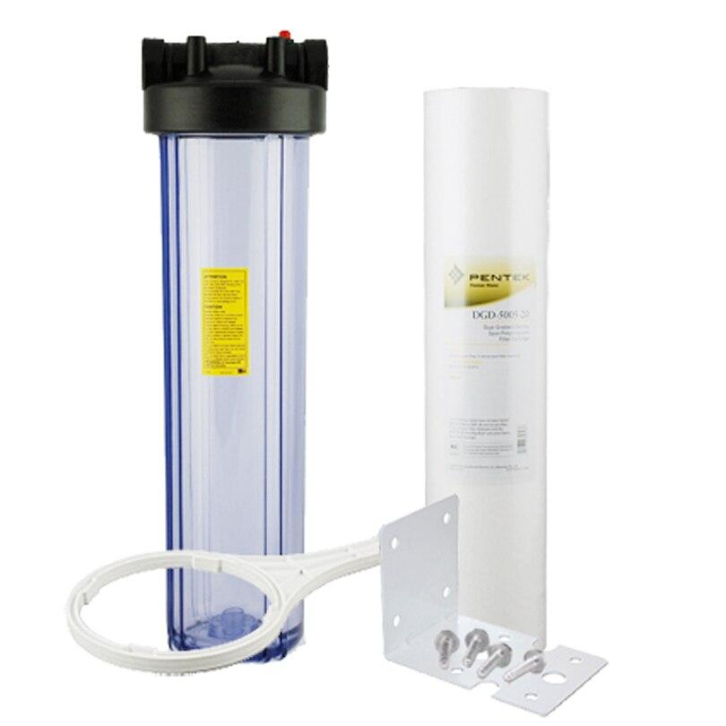 مجموعة الفلتر المسبق للرواسب 20 بوصة ، 50 ميكرون إلى 5 ميكرون ، لتصفية المياه وجهاز تنقية المياه