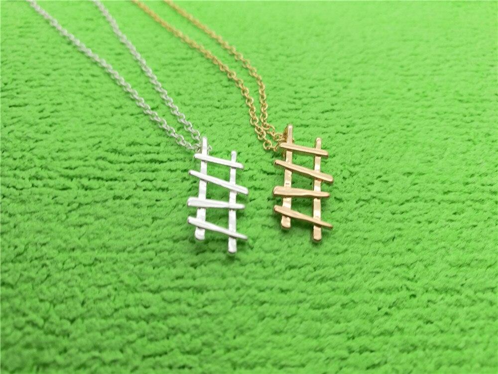 10 Uds. Collar de escalera alta geométrica Hada Celestial Stepladder to Success collar minimalista poligonal instrumento collares