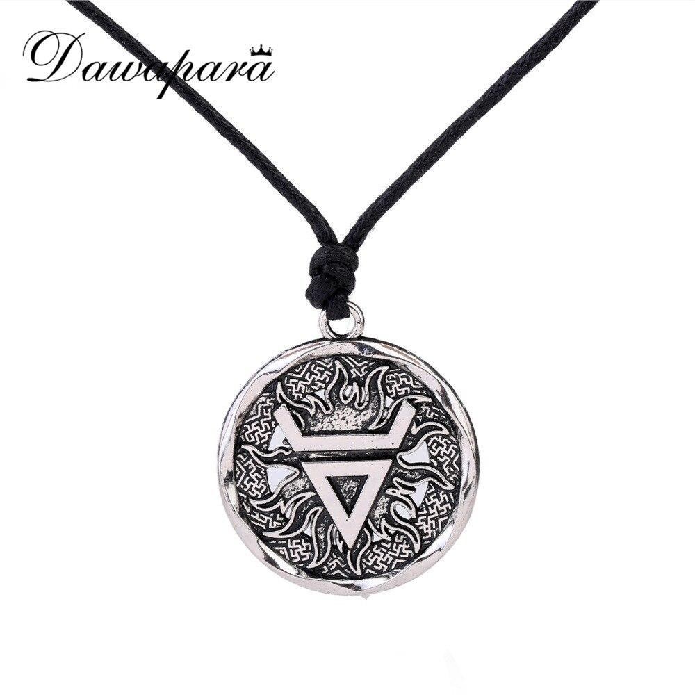 Dawapara 1 pcs veles símbolo. weles. eslavo antiga riqueza talismã pingente jóias homens pagão viking instrução colares
