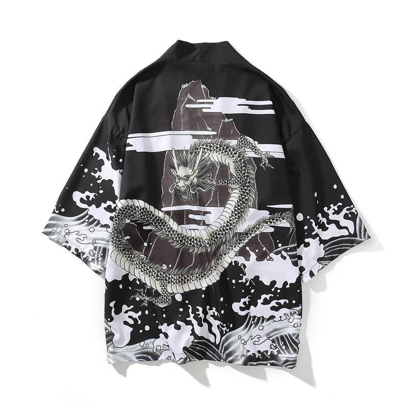 T-shirt homme   Streetwear estival et humoristique, avec Dragon imprimé, Harajuku