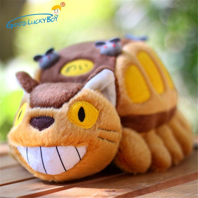 30CM חמוד Totoro רך בפלאש בובת בעלי החיים צעצועי ילדים אנימציה אוטובוס ממולא Kawaii מתנת צעצועים לילדים הייאו מיאזאקי אנימציה