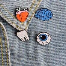 1 pièce de dessin animé   badge métallique, broche, boutons, veste en denim, bijoux, badge de décoration pour vêtements, épingles à revers