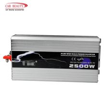 Inversor de corriente de 2019 W cc 12V a CA 2500 V, onda sinusoidal pura, inversor de energía Solar USB para coche, con picos aislantes
