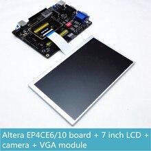 FPGA Altera zestaw deweloperski ALTERA Cyclone IV EP4CE6 EP4CE10 FPGA pokładzie + usb blaster + 7 cal TFT LCD + 16bit VGA + OV7670 przyszedł